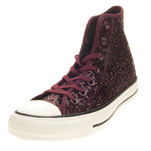 All Star Hi Glitter - 555116c Port/Egret/Black - (38, port/egret/black)