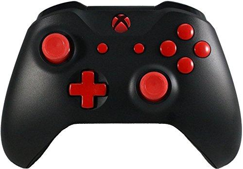 Soft Touch Custom Controller-Blood Rot Splatter Soft Shell für Komfort Grip X Rot Red Buttons ()