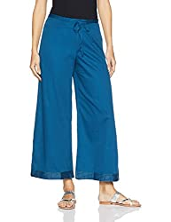 Fabindia Womens Parallel (10452039_Blue_XL)