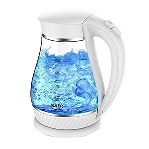 Glazen Waterkoker, Theekoker, Waterzuiveraar, Waterketel, Ketel 1,7 Liter LED Binnenverlichting, Weiβ