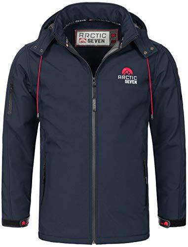 Arctic Seven Herren Designer Softshell Funktions Outdoor Regen Jacke Sport AS087 [AS-087-N