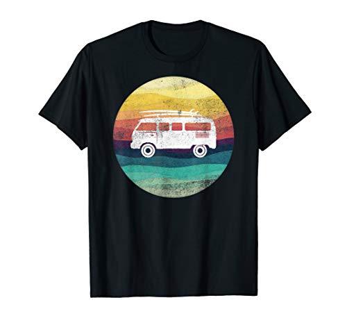 Bulli T1 Van Surf Retro Santa Cruz 70s Oldtimer T-Shirt -