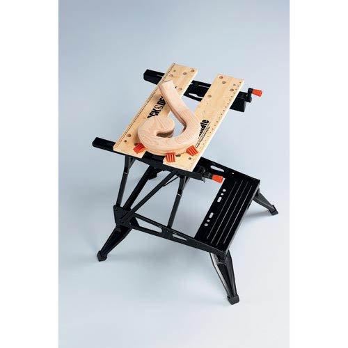 Black+Decker flexible Werkbank WM536 mit großer Arbeitsfläche / Höhenverstellbar und einfach handzuhaben / Bis 160 kg belastbar / Maße (Arbeitsfläche): 25,0 x 61,0 cm - 2
