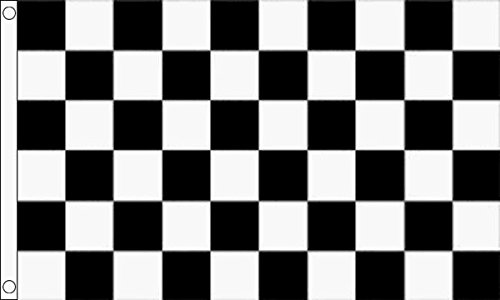 Die Flagge Großhändler b011325schwarz und weiß kariert Flagge, Mehrfarbig, 24x 1x 23cm