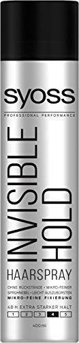 Syoss Invisible Hold Haarspray, Haltegrad 4, extra stark, 6er Pack (6 x 400 ml) -