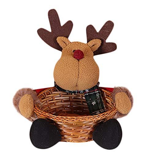 (Gaddrt Süßigkeitenkorb Weihnachtssüßigkeit-Ablagekorb-Dekoration-Weihnachtsmann-Ablagekorb-Geschenk 21x23CM (B))