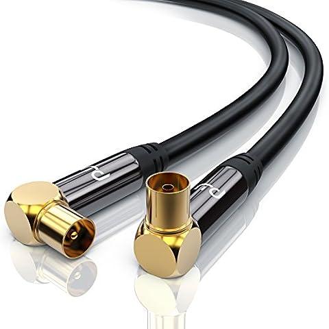 Cable Antenne Tv Male Femelle - Premium 1m câble d'antenne Connecteur à angle