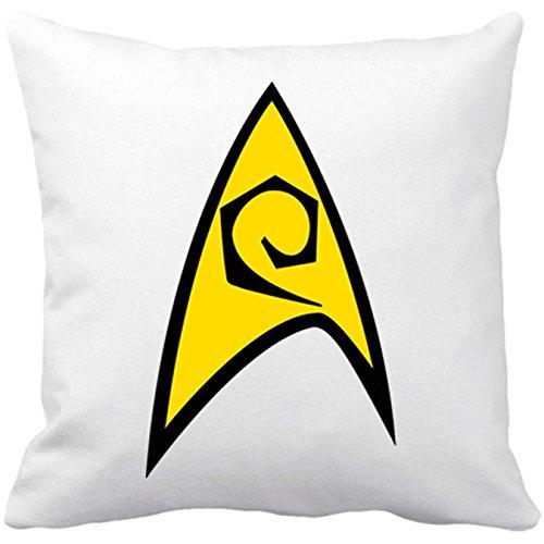 Kissen mit Füllung STAR TREK LOGO rothemden Ingenieure 35 x 35 cm weiß (Star Trek-kissen)