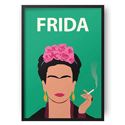Frida Kahlo Poster // Feminist Artwork - Póster - Minimalist - Inspirational - Colourful - Gift for Her - Minimalist - arte Feminista - Minimalista - Inspirador - Arte retro