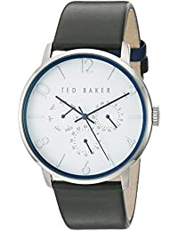 ba428c317d0 Ted Baker Men s  Smart Casual  Quartz Stainless Steel and Leather Dress  Watch