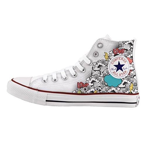 Converse Personalizados e impresos - zapatos de artesanía - Cloud
