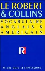 Le Robert et Collins : vocabulaire anglais et américain