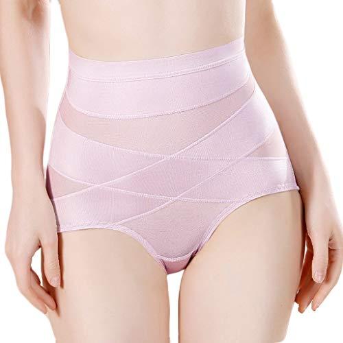 Damen Schulter Elastizität Taille Cincher Unterbrustkorsett Body Shaper Belly Panties(Lila,M)