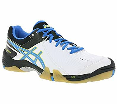 Asics Women´s Handballschuhe Gel-Domain 3 E465Y-7093 White/Diva Blue/Black EU 40.5