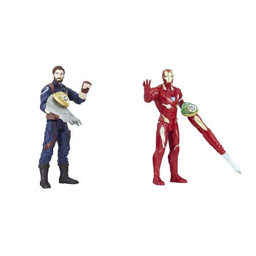 Marvel Avengers Infinity War - Captain America & Iron Man (With Infinity Stone)