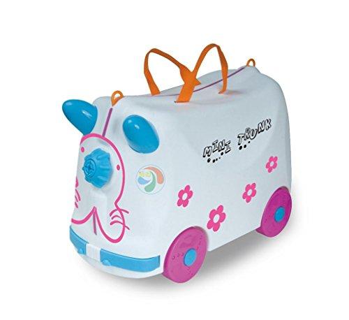 Borsa trolley TongQiu bambini giocattolo con contenitore giocattolo valigia può essere corsa per bambini di 3-6 protezione ambientale plastica ABS , white