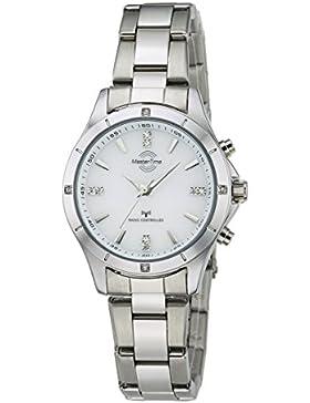 Master Time Funk Fashion Series Damenuhr MTLA-10464-11M, Edelstahl Armbanduhr Silber