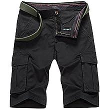 Cargo Pantalones cortos Jogging Pantalones de deporte ,Pantalón corto para Hombre XX-Large Negro
