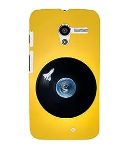 PrintVisa Round Disc 3D Hard Polycarbonate Designer Back Case Cover for Motorola Moto X :: Motorola Moto XT1052 XT1058 XT1053 XT1056 XT1060 XT1055