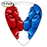 Red VS Blue Boxing Classic Guitar Pick (12 Pack) for Electric Guita Bass