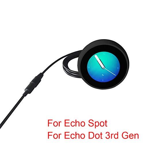 MERES 9.8ft 3m DC Stecker Verlängerungskabel für Amazon Echo Spot/Echo Dot 3 Generation Power Adapter, Netzadapterverlängerung für Amazon Echo Spot