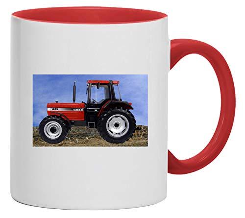 Bimaxx Traktor Tasse | IHC Case 1455 | weiß/rot