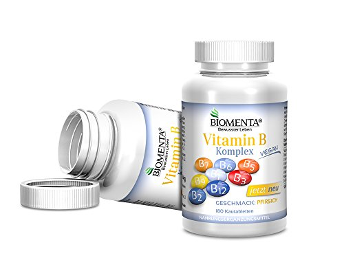 Biomenta-Vitamina-B-Complex-con-Vitamina-B1-Vitamina-B2-Vitamina-B3-Niacina-Vitamina-B5-Vitamina-B6-Biotina-Acido-Folico-Vitamina-B12-180-vegano-Tabletas-masticables