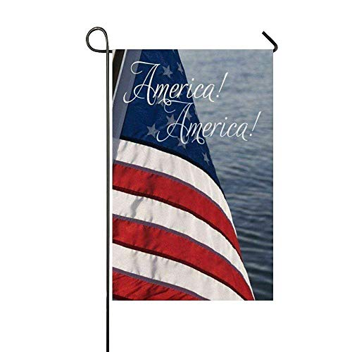 WEERQ America America Flag Garden Flag - Double Sided Holiday Decorative Outdoor House Flag 12.5x18 - Dackel-halloween Baby