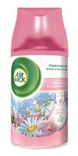 Air Wick Fresh Matic Ricarica Spray Automatico, Fiori di Pesco - 4 pezzi da 250 ml [1 l]