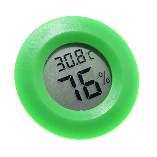 LAAT Termómetro Higrómetro Digital Redondo Sensor de Humedad del Monitor Pantalla de...