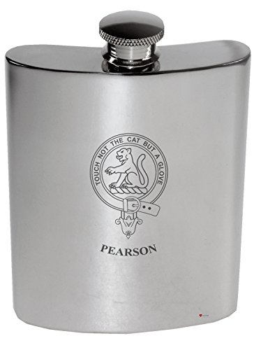 pearson-family-crest-6oz-polished-pewter-kidney-flask