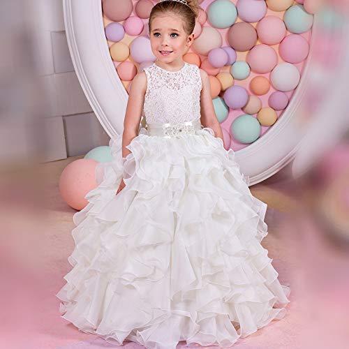 Fanuosu Mädchen Abendkleid, Kinderkuchen, Flauschiges Hochzeitskleid, Blumenmädchen, Bühnenauftritt, Abschlussball-Brautkleid Formelle Party Kleider (Größe : 4-5T) (Junior High Halloween-kostüme)