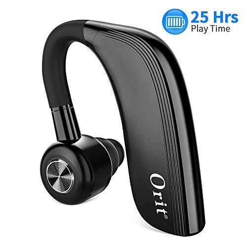 Auricolari Wireless Bluetooth, Cuffie Senza Fili Bluetooth con Microfono HD, 25 Ore di Conversazione o 22 Ore di Musica 700 Ore di Standby, Il Design in Morbida Gomma Si Adatta alle Orecchie