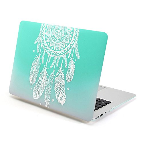 cover-dura-frosted-gmyle-per-macbook-air-13-pollici-gradiente-turchese-dream-catcher-pattern-cover