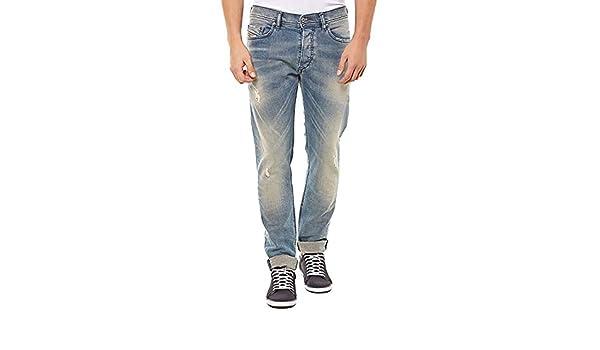 b11ca1ab Diesel Men's Tepphar 0845F Slim Carrot Jean Blue (38W x 34L): Amazon.in:  Clothing & Accessories