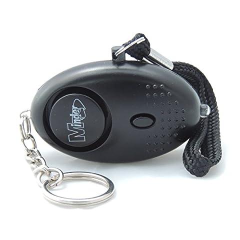 Minder mini porte-clés attaque personnelle viol d'alarme 140db avec torche (noir) Aussi disponible en bleu, argent, vert, Violet