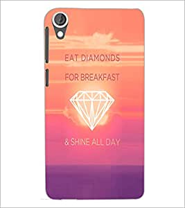 PrintDhaba Quote D-4747 Back Case Cover for HTC DESIRE 820 (Multi-Coloured)