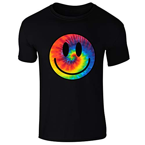 Mens Tie Dye Happy Smile Face Acid Rave T-Shirt - S to XXL