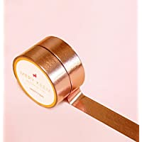 Rose Gold Foil Washi Tape for Planning • Planer und Organizer • Scrapbooking • Deko • Office • Party Supplies • Gift Wrapping • Colorful Decorative • Masking Tapes • DIY
