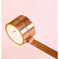 ROSE GOLD FOIL WASHI TAPE Idéal pour scrapbooking • Stickers Fonctionnels pour Planner • Deco • Planning et Organiseur • Masking Tape • Papeterie • Washi Tape • Stickers pour Journal • DIY • Adhésif