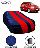 #8: Fabtec Red & Blue Car Body Cover for Maruti Celerio with Storage Bag Combo!