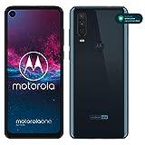 Motorola One Action Dual-SIM Smartphone (6,3-inch FHD + display, drievoudige camerasysteem 12 MP- + 5 MP Dual Camera + 16 MP videomodus, 128 GB/4 GB, Android 9) + beschermcover, blauw