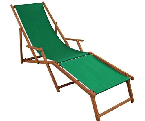 Sedie Sdraio Da Giardino Legno.Sedia A Sdraio Lettino Prendisole Verde Poggiapiedi Sdraio Da