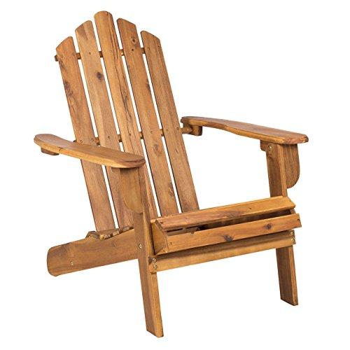OUTLIV. Adirondack Stuhl Amerikanischer Gartenstuhl braun Gartensessel klappbar Holz Akazie FSC Liegesessel Klappsessel -