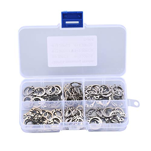 Spring Lock Washer (CHOULI 120Pcs Stainless Steel C Clip Elastic Retaining Ring Clamp Spring Lock Washer Silver)