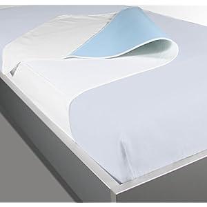 Waschbare Krankenpflegeunterlage / Mehrfach Bettauflage 70×90 cm mit Flügel 30+30 cm