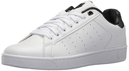 K-Swiss Herren Clean Court CMF Sneaker, Weiß (White/Black), 43 EU