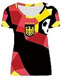 For G and PL WM 2018 2018 Damen Deutschland Fußball Team Party Außen Sport Fan T Shirt Trikot Germany Motiv 3 S