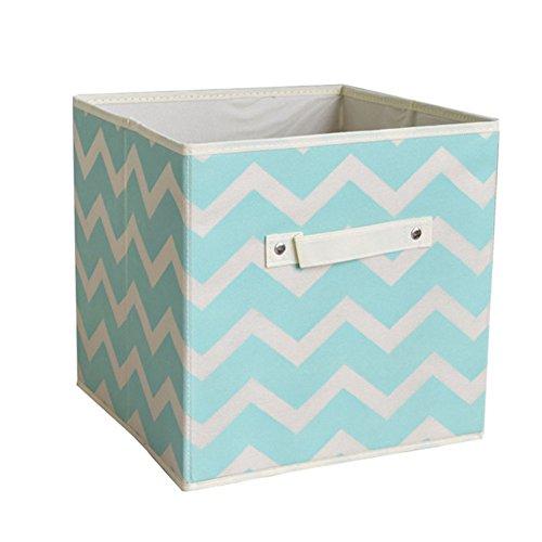 weimay gamuza de plegable caja de cubos de almacenamiento cestas contenedores organizadores cajones para la oficina en casa caja de juguete y de almacenamiento bin, 1pieza, azul, 28*28*28cm