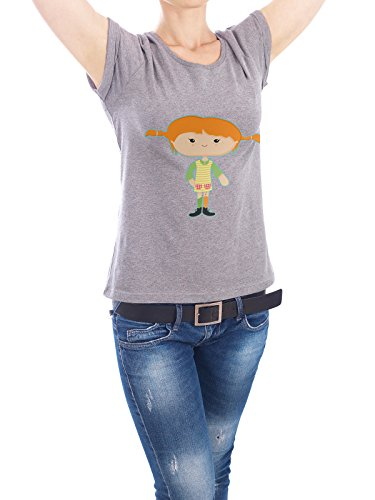 "Design T-Shirt Frauen Earth Positive ""Pipi"" - stylisches Shirt Film Fiktion von Cristina Castro Moral Grau"